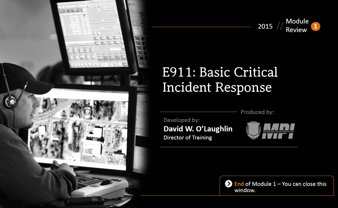 Basic Critical Incident Response